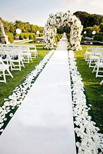 Wedding Aisle Runner White 10 in×10 ft Aisle Runner Rug Aisle Carpet Runner  Perfect for Indoor Outdoor Beach Weddings