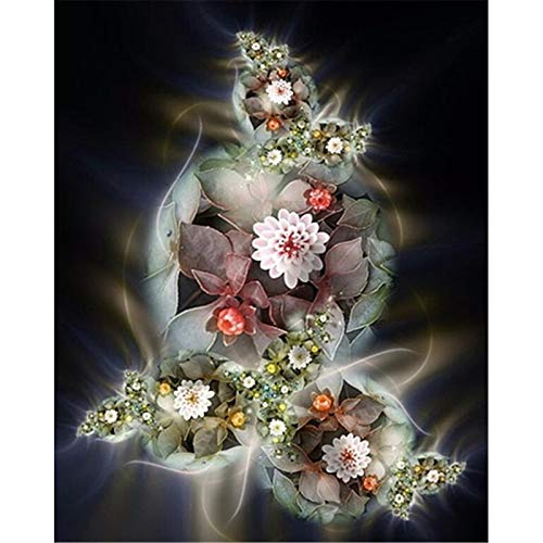 5d Diamond Painting Full Round Drill Flower Round Embroidery Special Shape Fantasy Rhinestones Picture Not Folding