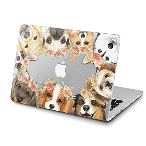 Lex Altern MacBook Cute Dog Pro 15 inches Case Floral Mac Air 13 2018 A1707 A1706 A1989 Retina Flowers 12 Cover Hard Shell 11 Apple 2017 Clear 2016 Plastic Laptop Protective Girls Women Print Husky ()
