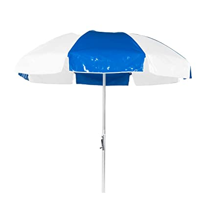 Amazon Com 7 5 Ft Commercial Grade Steel Patio Umbrella With Vinyl