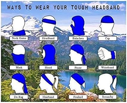 O-C Black White Flowers Headwear Multi-Functional Neck Bandana Outdoor Sport Magic Headband Elastic Seamless Scarf Face Mask,Balaclava,Helmet Liner,ATV//UTV Riding UV Resistence Skiing,Hunting