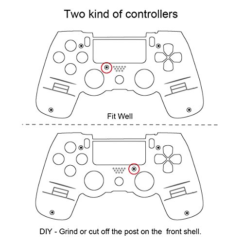 Controller Front Shell for PS4 Controller - Case for The PS4