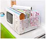 Generic C : 1Pc Romantic Microwave Oven Cover With 2 Pouch Dustproof Cotton Cloth Cover Romantic Style Microwave Oven Set