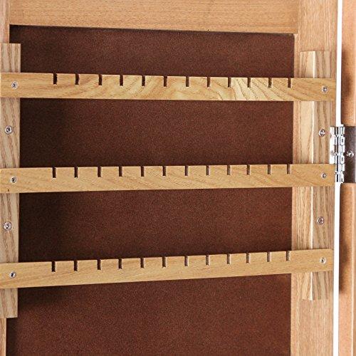 Songmics 153 x 35,5 x 35 cm Schmuckschrank Spiegelschrank Holzfarbe JBC77M -