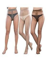 Pantyhose For Women Sheer Toe Full Length Reinforced T Crotch 15 Denier 3 Packs(M/L)