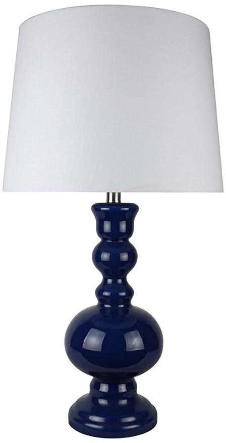 Ahs Lighting L2577bl U1 Santa Barbara Blue Glass Table Lamp 5 X 5