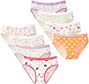Nightaste Women/Teens Cotton Hipster Panties Assorted Pack of 8pcs Mid-Rise Underwear for Teenager Girls
