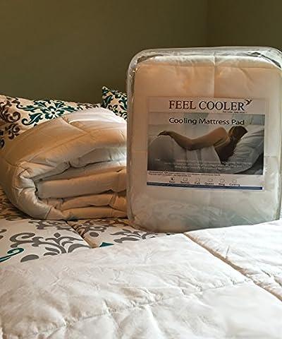 Feel Cooler Cooling Mattress Pad (King) - Gel Cooled