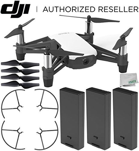 Ryze Tello Quadcopter Drone with HD Camera and VR - Powered by DJI Technology and Intel Processor Ultimate Bundle