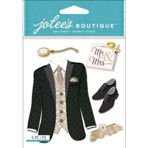 Jolee's Boutique Dimensional Stickers, Tuxedo