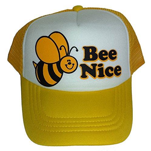 Toddler Bee Nice Bumble Mesh Trucker Hat Cap Youth Yellow (Bumble Bee Cap Toddler)