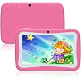 Padcod Kids Tablet, New 7 Inch Display Android 5.1 1280x800 IPS Display, Cortex A9 Processor and with Camera, 1GB RAM 8GB ROM HD Video Playing and Playing Games (Pink)