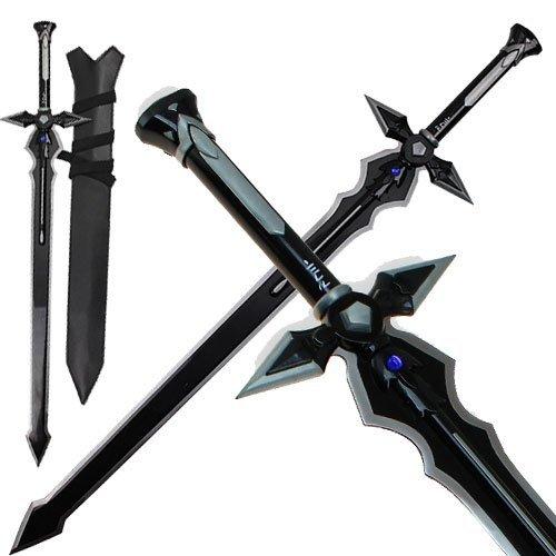 Dream2reality Cosplay sword art online Kirigaya Kazuto kirito Black - Dark Repulser Medium Carbon Steel Sword]()