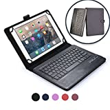 Acer Aspire Switch 11 keyboard case, COOPER INFINITE EXECUTIVE 2-in-1 Wireless Bluetooth Keyboard Magnetic Leather Travel Cases Cover Holder Folio Portfolio + Stand SW5-111 SW5-171 (Black)