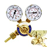 XtremepowerUS Welding Gas Regulator, Pressure Gauge (Oxygen)