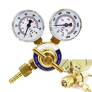 XtremepowerUS Welding Gas Regulator, Pressure Gauge (Oxygen)