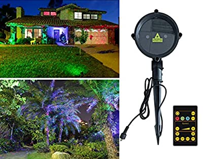 Christmas Garden Lights Waterproof Outdoor IP65 Star Projector with Wireless Remote Control for Seasonal Decoration,Wedding,Home Party,Garden,DJ Disco