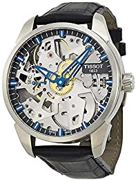 Mens T0704051641100 T-Complication Squelette Analog Display Swiss Mechanical Hand Wind Brushed Stainless Steel watch