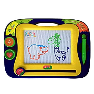 Gojire FunKydz Kids Magnetic Drawing Board - Erasable Colorful Magna Doodle Drawing Board Toy - Learning, Writing, Sketching Pad - Great Gift & Birthday Present