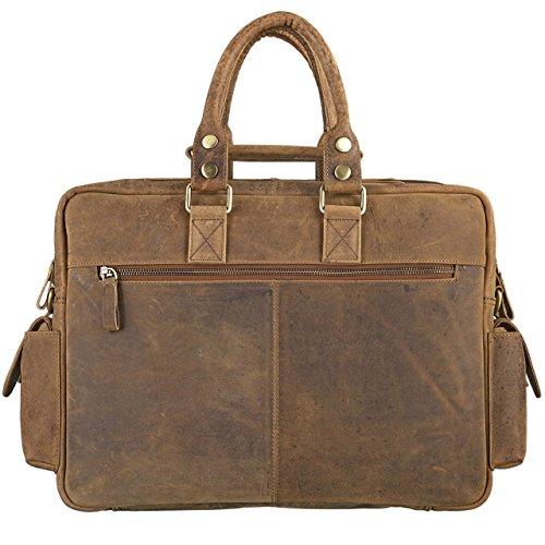 STILORD Messenger bag borsa a tracolla borse in vera pelle unisex Retro Vintage Brown
