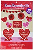 Blushing Valentine's Day Room Party Decorating Kit, Paper, Pack of 10