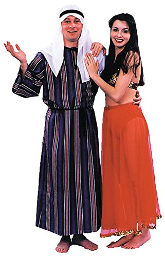 Arabian Costumes Plus Size (UHC Men's Arab Sheik Robe w/ Headpiece Arabian Theme Fancy Costume, OS (40-44))