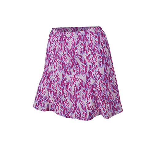 Monterey Club Ladies Dry Swing Skort #2928 (Pastel Lilac/Very Berry, Medium)