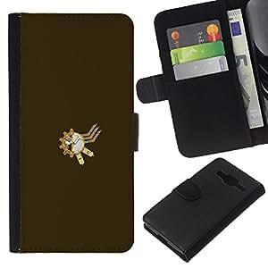 JackGot ( Steampunk Sproket ) Samsung Galaxy Core Prime la tarjeta de Crédito Slots PU Funda de cuero Monedero caso cubierta de piel