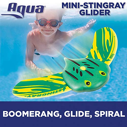 - Aqua Mini Stingray Underwater Gliders (2 Pack), Self-Propelled, Adjustable Fins, Travels up to 40 Feet, Pool Game, Ages 5 and up