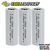 3pk 18500 3.2V 1200mAh Rechargeable LiFePO4 Batteries For Solar Lights Garden Lights , Security System Panels, LED Flashlights FAST USA SHIPPING