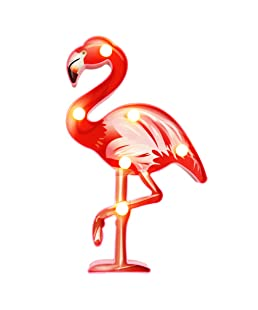 Vimlits 3D Painted LED Shine Flamingo Lamp Night Lamp Marquee LED Letter Nightlight for Home Decoration Birthday Gift for Kids