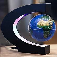 ZUEN Levitación magnética Globo Rotación Luminosa 3 Pulgadas Estudio de decoración de la Empresa Compañía Regalo Creativo Regalo de cumpleaños
