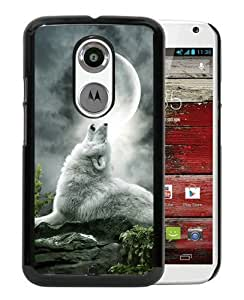 Fantasy Wolf Black Moto X 2nd Generation Screen Phone Case Nice and Genuine Design