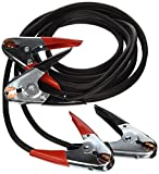 Coleman Cable 08765 12-Feet Heavy-Duty Truck and Auto Battery Booster Cables with Parrot Jaw Clamps, 4-Gauge