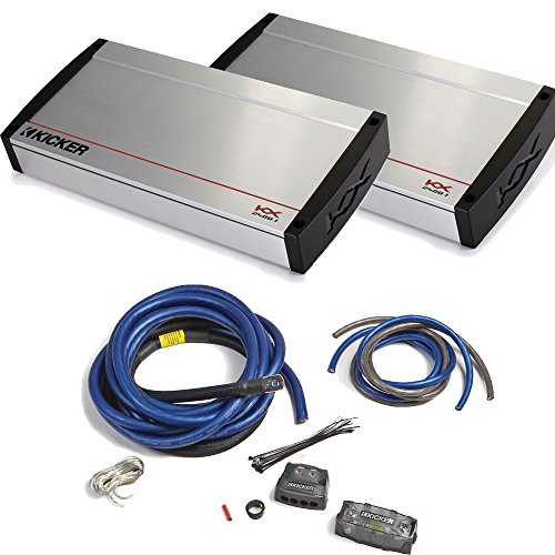 Kicker KX Amplifier package - Two KX-Series 2400 Watt Monoblock Amplifiers and 1/0 gauge dual-amp wiring kit