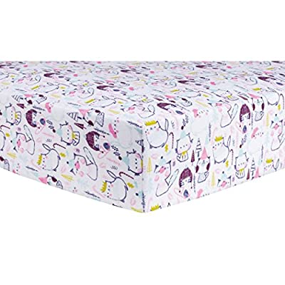Trend Lab Cool Cats Deluxe Flannel Fitted Crib Sheet