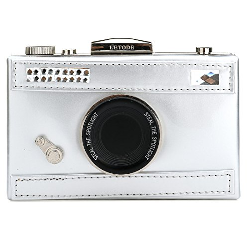 White Snapshot Camera Women's PU Cross Handbag Casual Purse body Shoulder Film Shaped IxAPwEAg