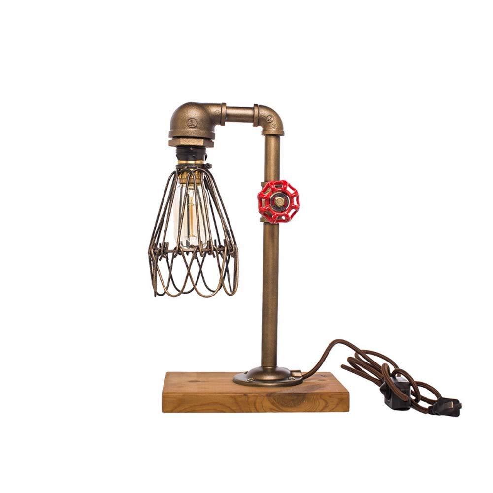 Kreative Tischlampe Industrielle Wind Schreibtischlampe Dekorative Wasser Tischlampe Dimmable Leselampe XIAOXAIO (Größe   1)