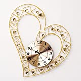 TIANTA- European Modern Minimalist Love Iron Wall Clock Living Room Art Clock Creative Wedding Ultra - Quiet Clock decoration ( Color : 1# )