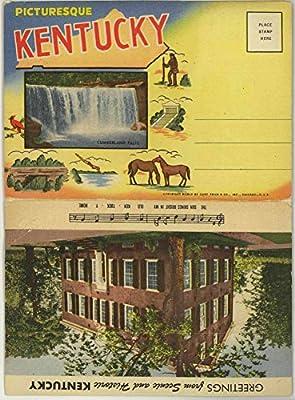 Picturesque Scenic & Historic Kentucky - 1955 Curt Teich Souvenir Postcard Folder #D-10777