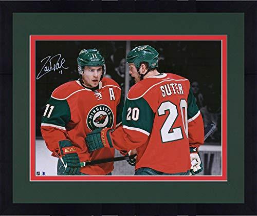 Framed Zach Parise Minnesota Wild Autographed 16