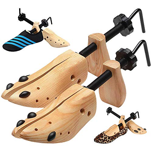 Wooden 2-Way Adjustable/Boot Shoe Stretcher Shaper Tree Stretcher Size 9-13