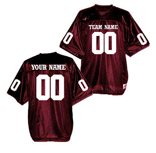 Custom Football Replica Team Jersey (Large, Maroon) ()