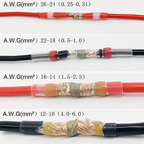 Connecteurs Bout /à Bout Thermor/éTr/éCissables De Soudure De Soudure Haude 55Pcs Connecteur De Fil De Joint De Soudure /éPissure /éLectrique Imperm/éAble De Fil De Terminaux De Beurre