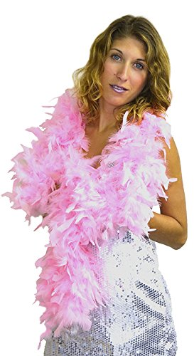 Aec pl4250/rosa–Boa plumas aprox 180cm 80gr aproximadamente rosa Aptafêtes PL4250/ROSE