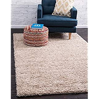 Unique Loom Solo Solid Shag Collection Modern Plush Taupe Area Rug (2' 0 x 3' 0)