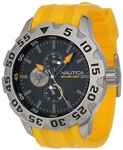 Nautica Men's N15566G BFD 100 Multifunction Black Dial Watch