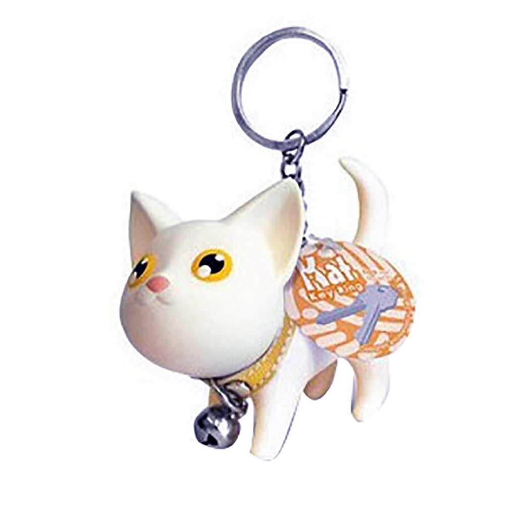 Sunlera Key Chain del Gattino del Gatto del Fumetto Animale Portachiavi Piccolo Campana Portachiavi Donne Studente Metallo