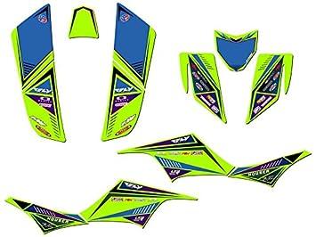 Senge Graphics kit compatible with Kawasaki 2003-2008 KFX 400 Shredder Green Graphics Kit