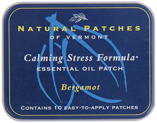 Body Patch Aroma (Natural Patches Of Vermont Bergamot Stress Comfort Essential Oil Body Patches, 10-Count Tin)
